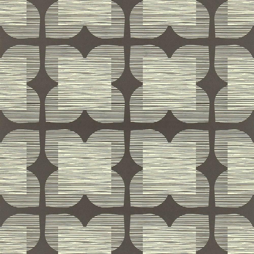 Orla Kiely wallpaper Flower Tile Black