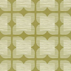 Orla Kiely wallpaper Flower Tile Olive