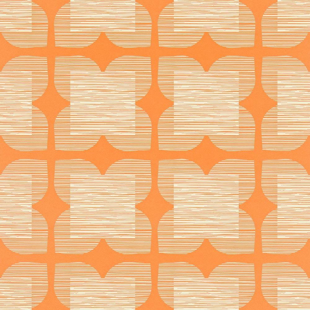 Orla Kiely wallpaper Flower Tile Orange