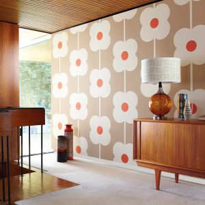 Orla Kiely wallpaper Giant Abacus Flower Dove