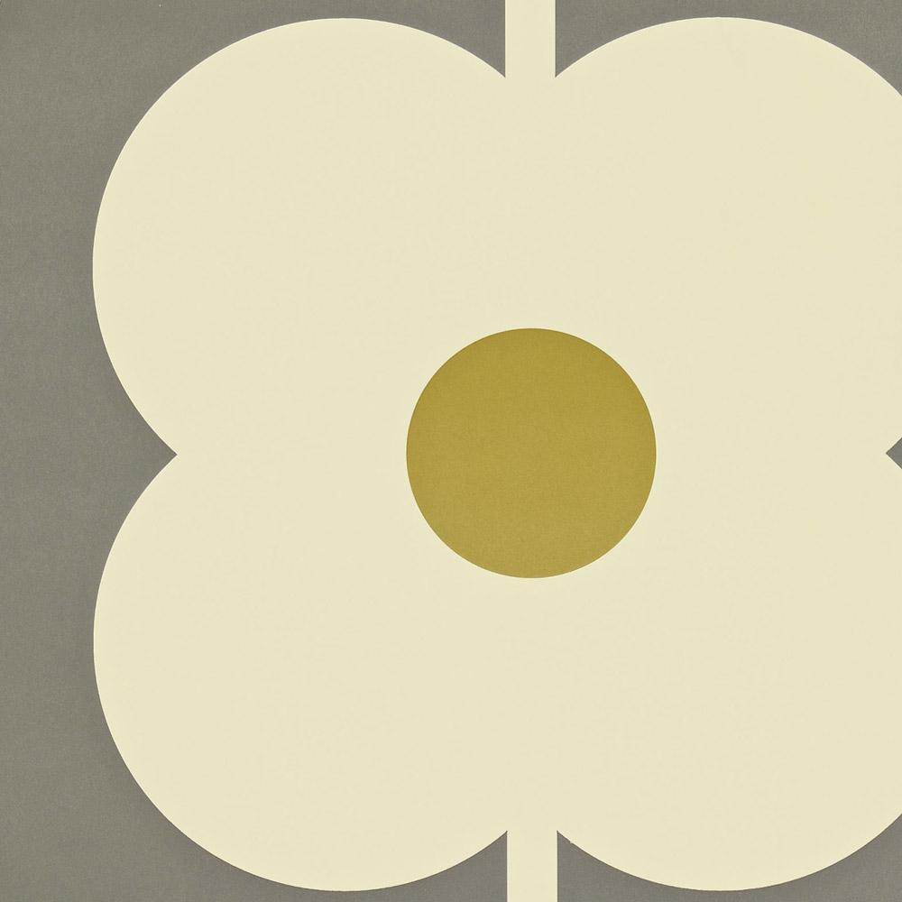 Orla Kiely wallpaper Giant Abacus Flower Dove