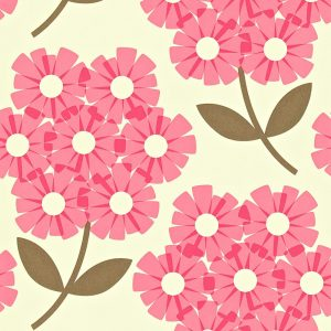 Orla Kiely wallpaper Giant Rhododendron Pink