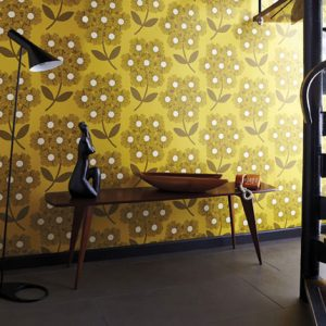 Orla Kiely wallpaper Giant Rhododendron Sunflower
