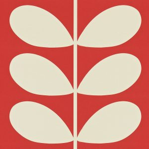 Orla Kiely wallpaper Giant Stem Red