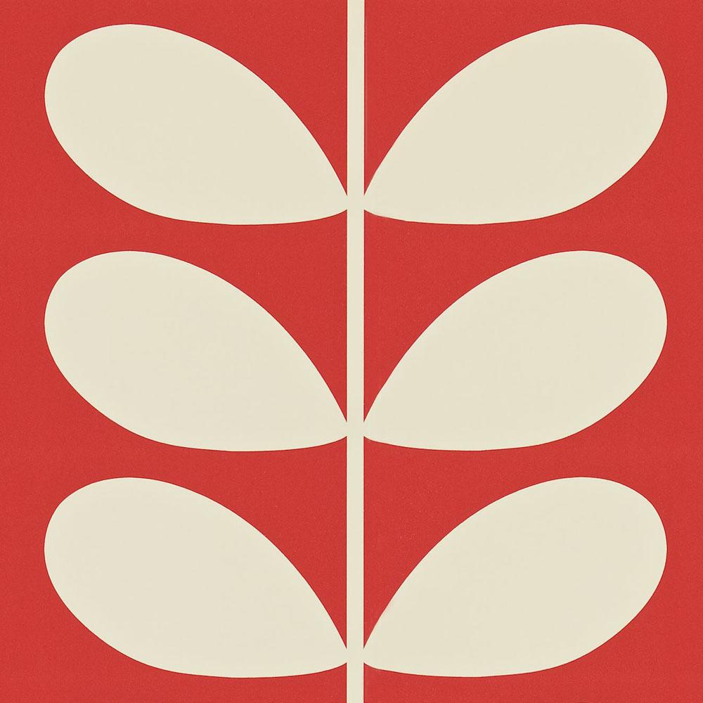 Orla Kiely wallpaper Giant Stem Red
