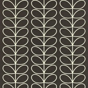Orla Kiely wallpaper Linear Stem Black