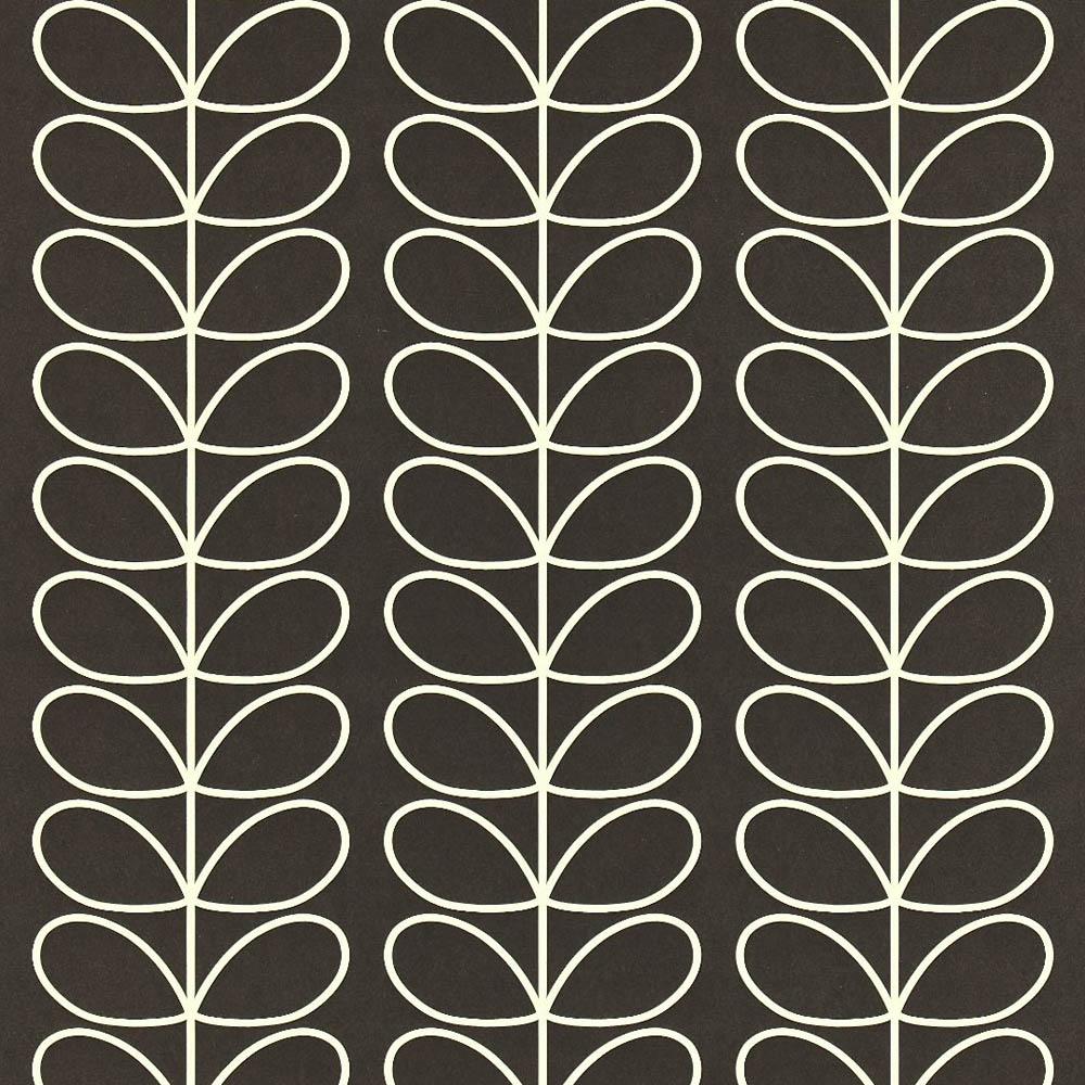 Orla Kiely wallpaper Linear Stem Black