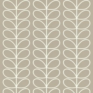 Orla Kiely wallpaper Linear Stem Grey