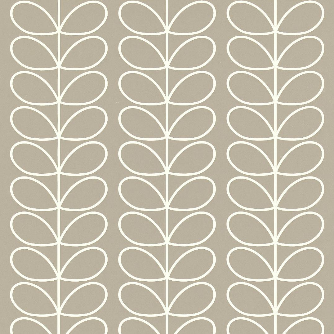 Orla Kiely wallpaper Linear Stem Grey
