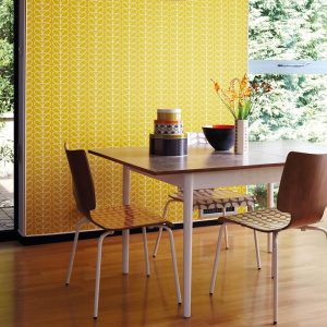 Orla Kiely wallpaper Linear Stem Olive