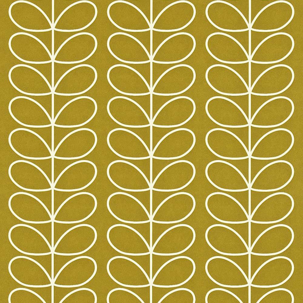 Orla Kiely wallpaper Linear Stem Olive