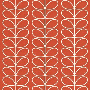 Orla Kiely wallpaper Linear Stem Poppy