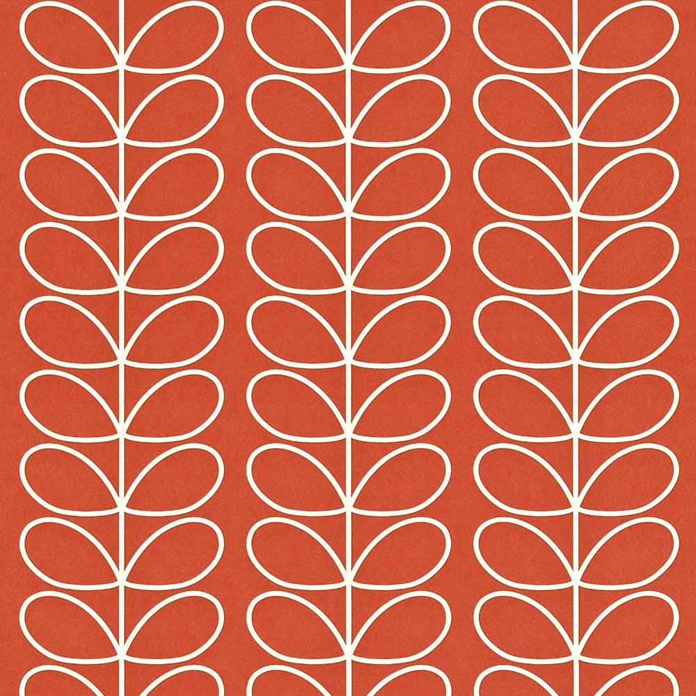 Orla Kiely wallpaper Linear Stem Poppy