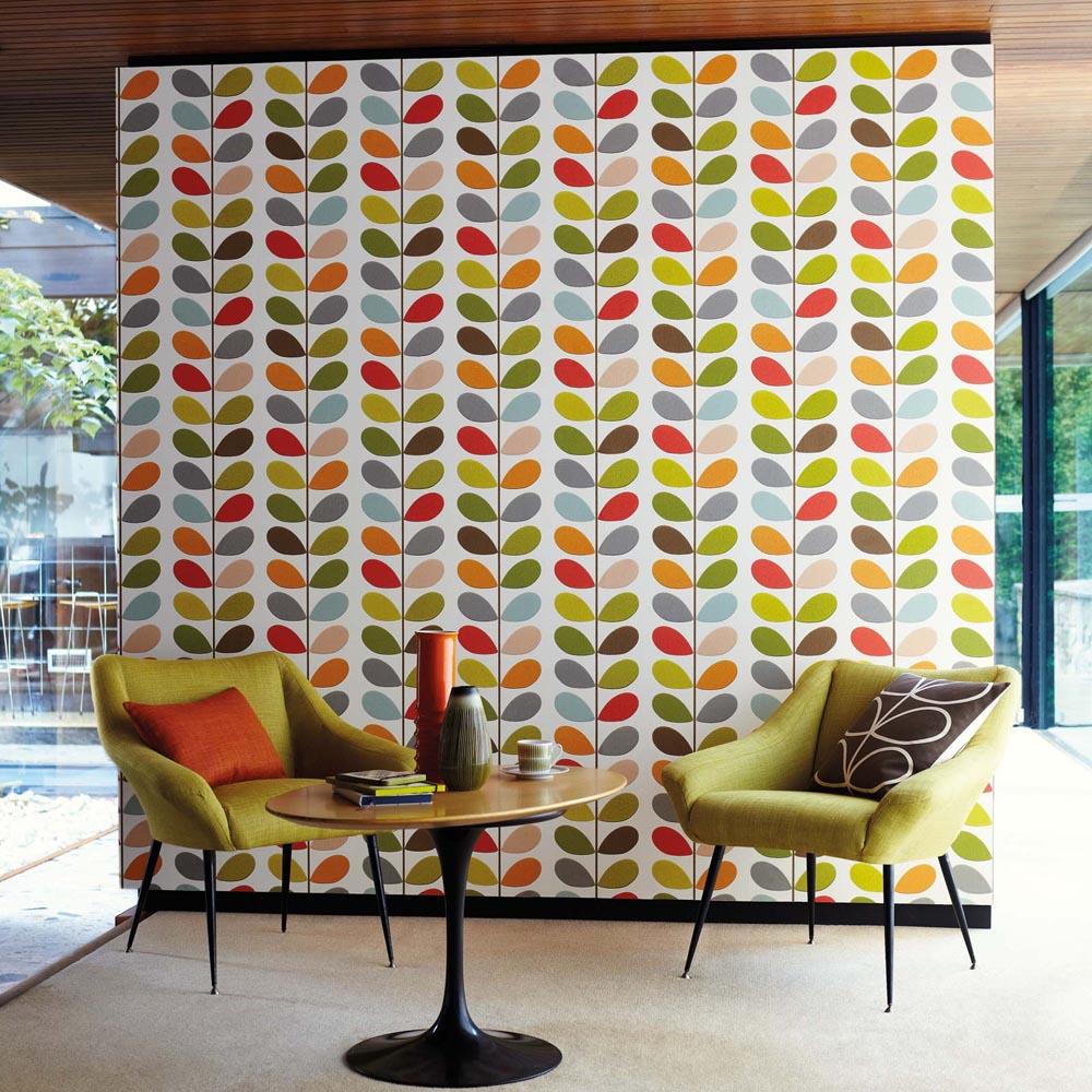 Orla Kiely wallpaper Multi Stem