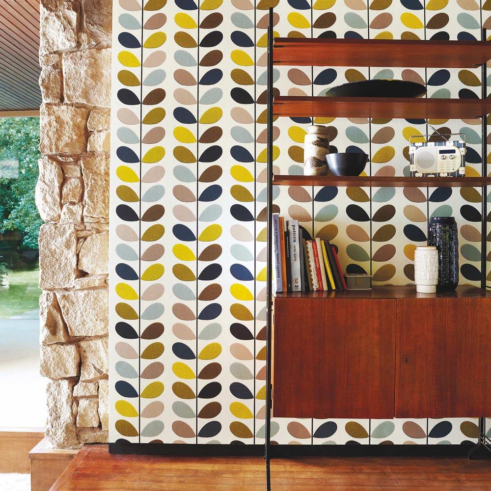 Orla Kiely wallpaper Multi Stem Seagreen