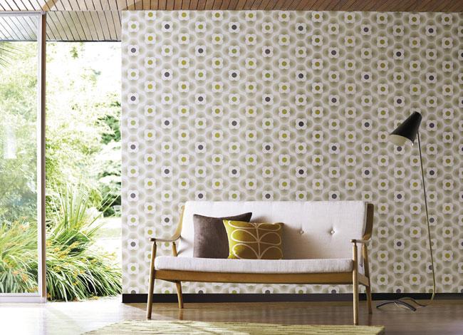 Orla Kiely wallpaper Multi Striped Petal Autumn