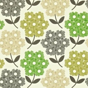 Orla Kiely wallpaper Rhododendron Green