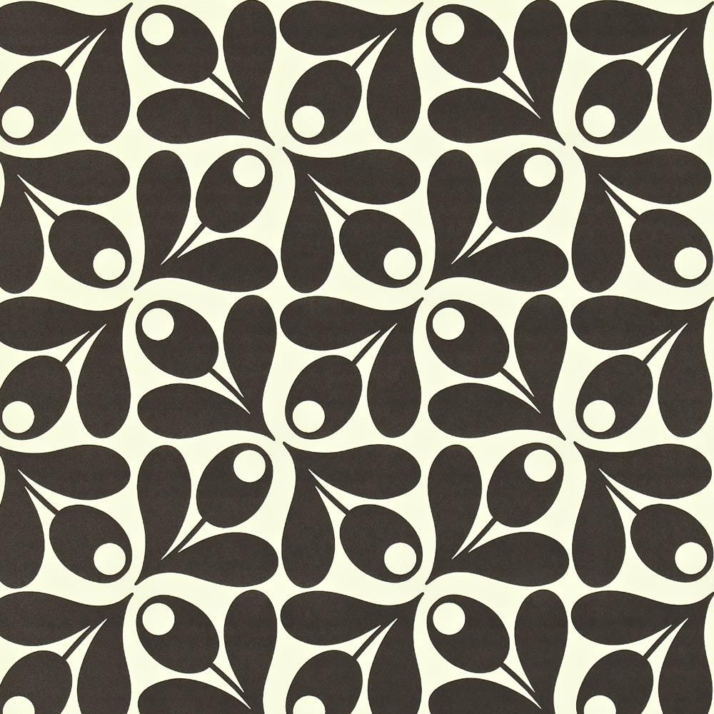 Orla Kiely wallpaper Small Acorn Cup Black