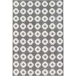 Brita Sweden plastic rug Flower Stone