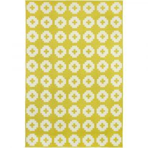 Brita Sweden plastic rug Flower Sun