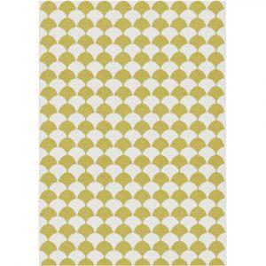 Brita Sweden plastic rug Gerda Mustard