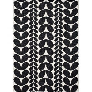 Brita Sweden plastic rug Karin Black