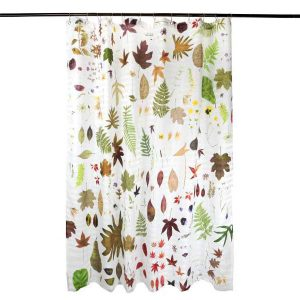EST-1966 shower curtain NO-1A Flowers White
