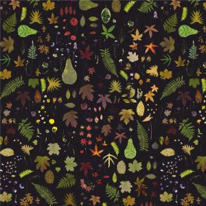 EST-1966 wallpaper NO-1 Flowers Black