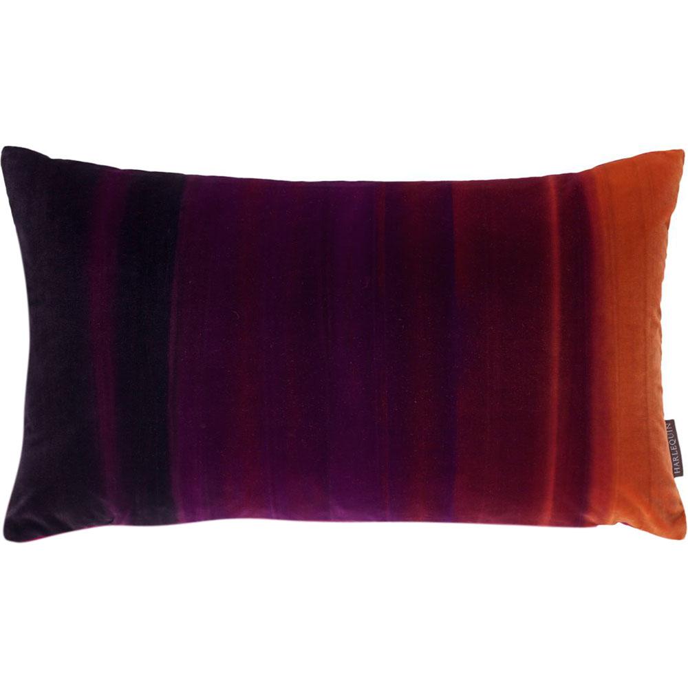 Harlequin cushion Amazilia Velvet Papaya-Raspberry