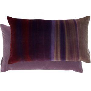 Harlequin cushion Amazilia Velvet Stone-Loganberry