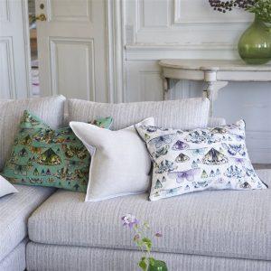Designers Guild cushion Issoria Zinc