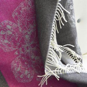 Designers Guild throw Charonda Fuchsia