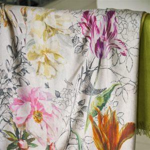 Designers Guild throw Sibylla Fuchsia