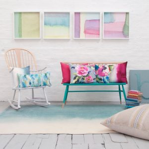 Bluebellgray cushion Paintbox Teal