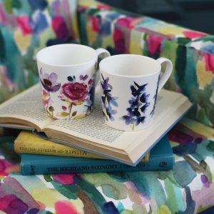 Bluebellgray mug Abstract