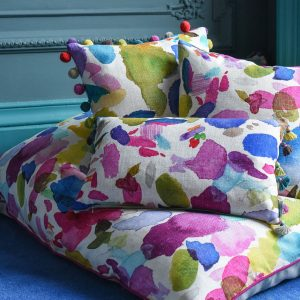 Bluebellgray cushion Portree Quay