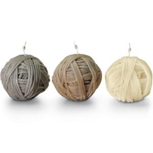 Missoni Home Gomitolo candles medium neutral - set of 3
