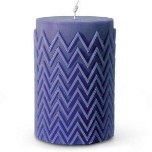 Missoni Home Chevron candle blue