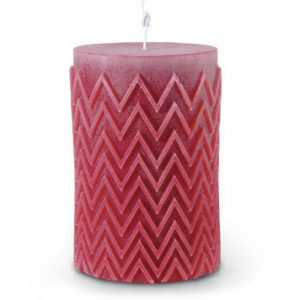 Missoni Home Chevron candle red