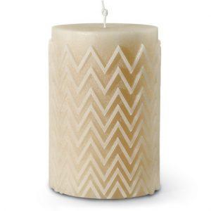 Missoni Home Chevron candle ecru