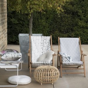 Designers Guild outdoor cushion Seraya Natural