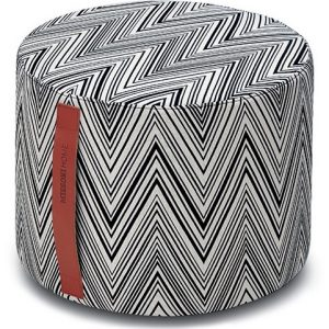 Missoni Home cylinder pouf Chevron black