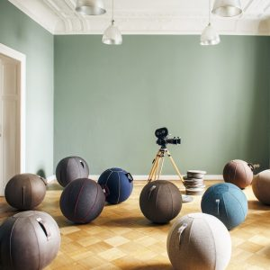 Vluv Veel stability ball leather-look Mud