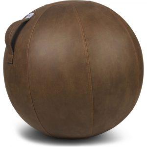 Vluv Veel stability ball leather-look Cognac