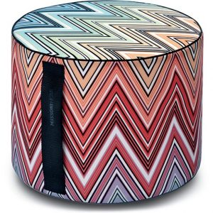 Missoni Home outdoor cylinder pouf Kew 159