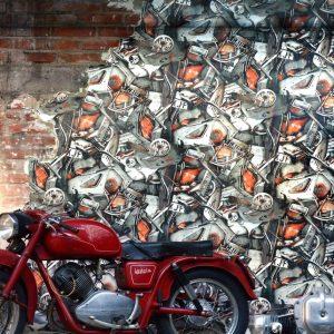 Jean Paul Gaultier wallpaper Carambolage Petrol