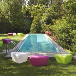 Missoni Home outdoor pouf table Pitagora