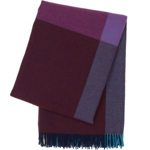 Vitra Colour Block Blanket blue-bordeaux