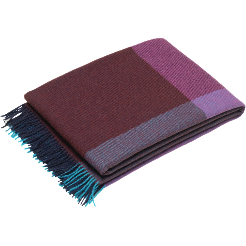 Vitra Colour Block Blanket blue-bordeaux