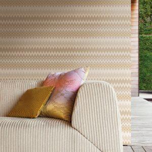 Missoni Home wallpaper Zigzag Multicolore 10066